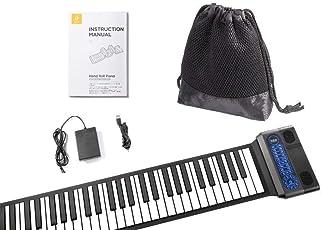 Roll-up-piano - Das Klavier - Aufrollbares, Tragbares, 11mm Dicke, Die Dauerhafte Batterie 2000mAh, Zwei Schallende Lautsprecher + Pedal + Mikrofon/Karaoke Funktion + Beutel