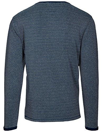 Basefield Herren Rundhals Shirt - faded indigo (219010768) 606 FADED INDIGO