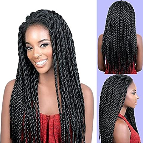Synthetic Braided Lace Front Wigs African American Twist Braids wigs