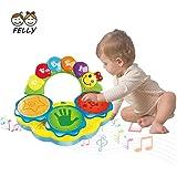 Felly Tamburo Giocattolo Musicale per Bambini - Strumenti Musicali con Adorabili Suoni - Tamburo Giocattolo - Gioco Educativo