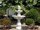Springbrunnen Etagenbrunnen Steinbrunnen mit Pumpe aus Steinguss, frostfest