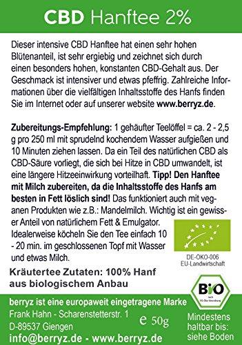berryz CBD Hanf Tee + Das Original mit 2% CBD - 4