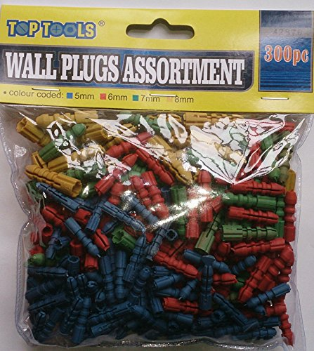300-pc-wall-plug-assortment-5mm6mm7mm8mm