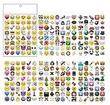 PartyErasers 6Blatt Beliebte Emoji-Aufkleber (288Aufkleber)