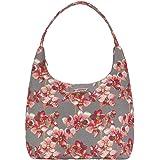 Signare Tapestry Arazzo Arazzo Borsa a Tracolla Donna, Borse Tote per Donne, Hobo bags con Disegni Floreali (Orchidee)