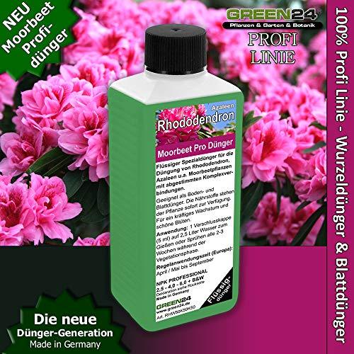 GREEN24 Rhododendron Dünger Azaleen düngen, Premium Flüssigdünger aus der Profi Linie