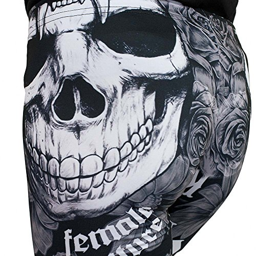 Yakuza Premium Allover Skull Leggings 1970 Schwarz