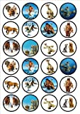 Ice Age Edible PREMIUM THICKNESS SWEETENED VANILLA,Wafer Rice Paper Cupcake Toppers/Decorations