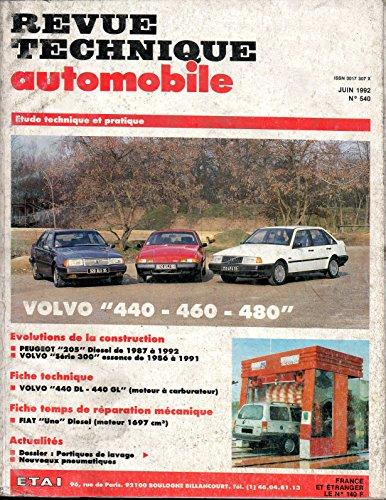 REVUE TECHNIQUE AUTOMOBILE N° 540 VOLVO 440 / 460 / 480 ESSENCE 1721 ET 1794 CM3