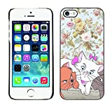 Plastic Shell Protective Case Cover || Apple iPhone 5 / 5S || Wallpaper Cartoon Cat @XPTECH