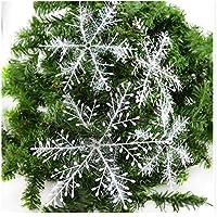 Snner Navidad Copos de Nieve Adornos bobinado 3D Copos de Nieve Fiesta casa decoración Suministros 30 cm 3 Piezas