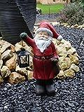 XL Weihnachtsmann mit Laterne Weihnachten Deko Figuren Figur Deko Santa Claus 40 cm - sehr liebevoll und detailliert gestaltet, aus hochwertigem wetterfestesm Polyresin für freie Standortwahl - handgefertigte und handbemalte Markenqualität