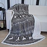 Home Edition Mojawo® Kuscheldecke Wohndecke Tagesdecke Fleece Decke Lammfell Optik Bern 150x200cm
