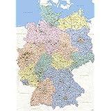 Landkarten Giant XXL Poster - Deutschlandkarte - Bildungsposter 1:640.000 - Größe 100x140 cm Germany Map german Version