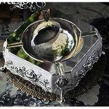 Cilindro de decoración para el hogar de pintado estilo europeo lujo metalurgia creativa elegante cigarro cenicero