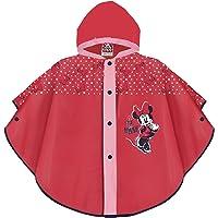 PERLETTI Mantella Pioggia Bimba Minnie Rossa e Rosa - Poncho Antipioggia Minnie per Bambina - Mantella Impermeabile con…
