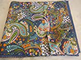 Tribal Asian Textiles Multicolor Paisley Print QUEEN Size Kantha Quilt , Kantha Blanket, Bed Cover, Kantha bedspread, Bohemian Bedding Kantha Size 90 Inch x 108 Inch 11114