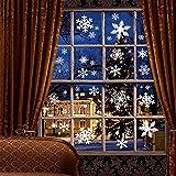 Weihnachtsdeko, Weihnachten Fensterdeko Set, DIY Weihnachtsdeko Schneeflocken Aufkleber Kinder, Winter Dekoration für Türen, Schaufenster, Vitrinen, Glasfronten, PVC Fensterdeko Set und mehr Vergleich