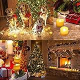 AMIR LED Kerzen, 12 LED Flammenlose Kerzen, Weihnachten LED Teelichter, Elektrische Teelichter Kerzen für Halloween, Weihnachten, Party, Bar, Hochzeit (Flicker Gelb) - 2