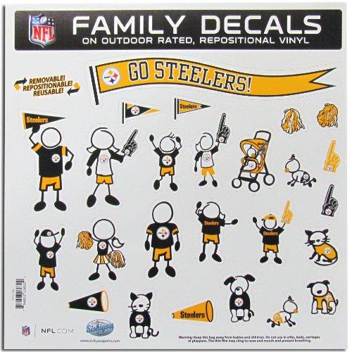 Siskiyou NFL Pittsburgh Steelers Große Familie Aufkleber Set