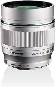 Olympus M Zuiko Digital Ed 75mm 1 1 8 Lens Silver Camera Photo