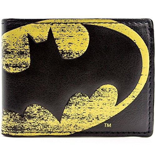 DC Comics Batman Lichtsymbol Schwarz Portemonnaie Geldbörse (Schwarze Batman Kostüm)