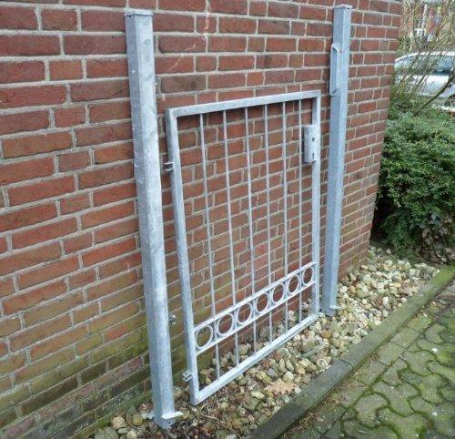 Hoftor Gartentor Einfahrtstor Tor Stabtor verzinkt Breite 100cm x Höhe 120cm
