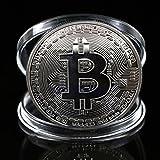 rexul (TM) 1pc bañado en plata Bitcoin moneda coleccionable BTC Coin Art Collection regalo física
