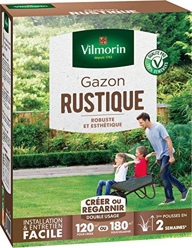 Vilmorin 4460415 Gazon Rustique Vert, 3 kg