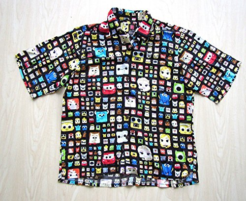 Disney Parks D23 Pixar John LASSETER reyn Spooner Hawaiian Mens Camp Shirt S-XXL Black
