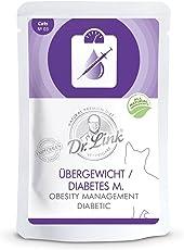 Dr. Link Spezial-DIÄT Übergewicht/Diabetes mellitus I Obesity Management/Diabetic |14 x 85 g | Nassfutter für Katzen