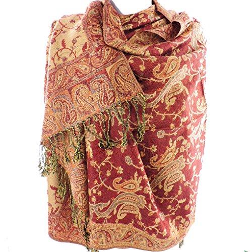 jacquard-paisley-eastern-motif-pashmina-shawl-scarf-stole-wrap-4493coco-brown