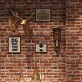 CCFENG PVC-Tapete 3D Persönlichkeit Roter Backstein Graue Ziegel Tapete Restaurant Simulation Ziegel American Land Tapete Café Technik Wandaufkleber 0.53 * 10m,7103