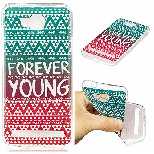 Huawei Y3 II / Y3 2 Hülle Case, Cozy Hut® [Fun-Serie] Ultra Dünn [Crystal Case] Transparent Soft-Flex Handyhülle / Bumper-Style Premium-TPU Silikon / Perfekte Passform / Kratzfest Schutzhülle für Huawei Y3 II / Y3 2 Case, Huawei Y3 II / Y3 2 Cover, Y3 II / Y3 2 Case, Y3 II / Y3 2 Cover - Gradient Stamm