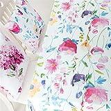 Insun Tischdecke Tischdeko mit Muster Tischtücher Abwaschbar Bunt Blumen 140x180cm