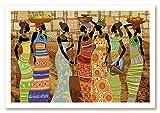 Großes Stickbild mit Perlen komplette Stickpackung Afrikanische Frauen 76x50 Stickset Stickerei Set Handarbeit Stickvorlage vorgedruckt vorgezeichnet Bild zum selber sticken Frau