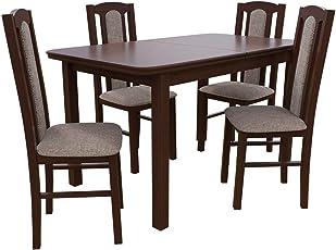 Mirjan24 Esstisch Mit 4 Stühlen DM08, Esstisch + Stuhlset, Tischgruppe,  Esstischgruppe, Sitzgruppe