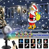 UKEER Christmas Projector lights Outdoor Music Animated Snow Decorations Lights Snow Falling Projector