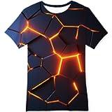 Goodstoworld T Shirt Bambino Ragazzo Ragazzi Maglietta 3D Manica Corta per Bambina Tee Tops Manica Corta 6-14 Anni
