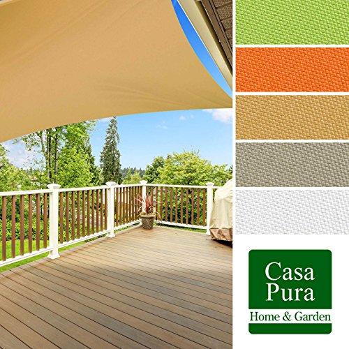 Voile d'ombrage casa pura® en coloris divers | matière imperméable - lavable en machine | taille 3x3m | densité 160g par m² | sable