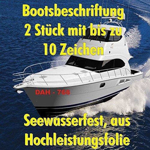 2 Stk. Bootsnummer 15cm Höhe Amtliches Kennzeichen Boot Schiff Nummer Bootsname