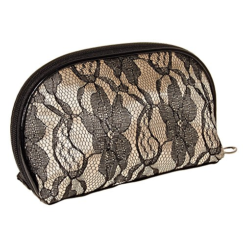 Blue Banana Lace Trousse A Maquillage (Noir/Blanc)