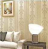 Yosot Moderne Europäische Non Woven Fabric Tapete 3D Stereo Schlafzimmer Warmen Wohnzimmer Tv Hintergrund Wand Tapeten Gestreifte Vereinfachte Gelb