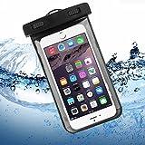 iPhone 6 / 6S Wasserdichte Hülle, Bingsale Wasserdichte Case Tasche Hülle Beachbag fur iPhone 6S Plus 6S iPhone 6 Plus 6 5S 5 Samsung Galaxy S6 S6 Edge S5 S4 Unterwasser Hülle mit Handy 4,0 - 5,5  Zoll (Schwarz)