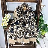 EIJ Europa und die Vereinigten Staaten Frauen Frühjahr und Winter Druck Langen Schal Schal Dual-Use-Seite Sonne Badetuch,A,180 * 100
