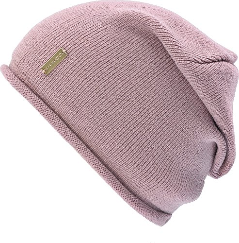guess-ladies-hats-hats-caps-knitted-hat-pink-pink-large