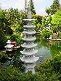 Pagode 7 stöckig japanische Steinlaterne