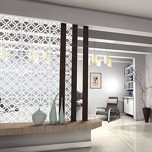 Kernorv DIY Raumteiler aus umweltfreundlicher PVC, 12pcs Einfache und Moderne Aufhängen Panel Display für Dekorieren beding, Esszimmer, Arbeitszimmer und Wohnzimmer, Hotel, Bar und Schule. White-02 -