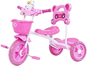 GoodLuck Baybee - Children Plug and Play Maalito Tricycle Kid's for 1-3 Years Baby Trike Ride on Outdoor | Suitable for Babies,Boys & Girls - (Pink)