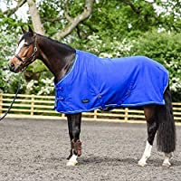 White Horse Equestrian Dash Fleece Rug - Horse Pony Stable Field Cooler Showing